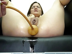 Miss April  A Huge Soapy Enema..