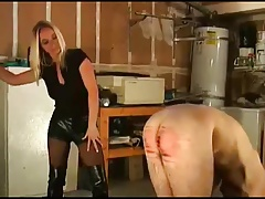 Jodi Cline is caning a stud