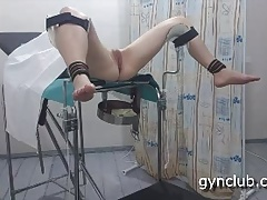 on the gynecological tabouret