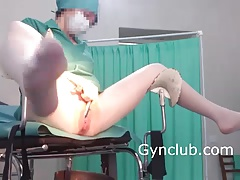 nurse masturbating on a..