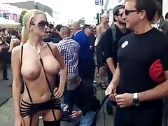 chick with big tits at Folsom