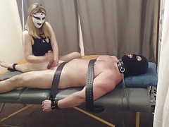 handjob and cbt, kittling