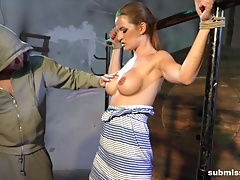 Nicole Vice roped cleavegagged..