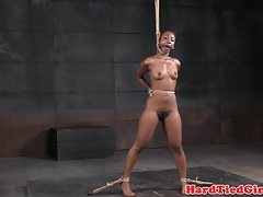 black sub flogged by her male..