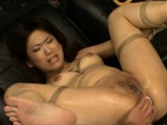 Cute oriental  gets fucktoys to..