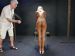 Blonde stupid  on audition