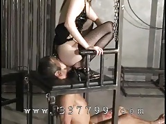 Marionettes lick carefully ass of..