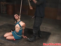 Office bdsm sub deepthroats..