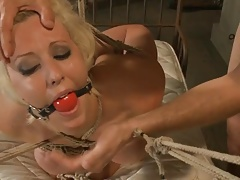 Bound and ball-gagged    gets..