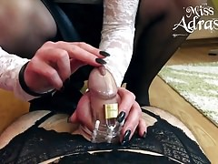 Sissy trapped in chastity and
