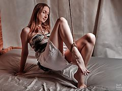 Provocative jute trussed ankle in..