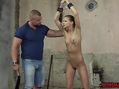Lean stunner Katy Sky getting a..