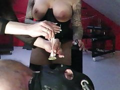 Dominatrix No.1 rewards her gimp..