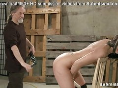 Teen gets her booty spanked by..