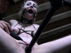 Tormented submissive gets toyed..