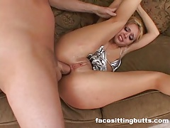 Dual ass-fuck group sex for an..