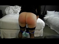 Plump Wifey Spanked For Gambling
