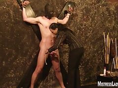 Lady Jenny torments victim  to..