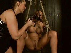 Busty Domme vs Squirting Marionette