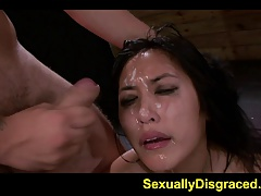Blowage and bondage makes Mia Li..