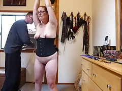 My victim  in glasses Punished