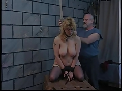 Blonde fuckslut is released from..