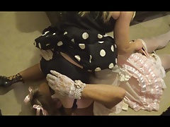 Sissy Satin maid smacked &..
