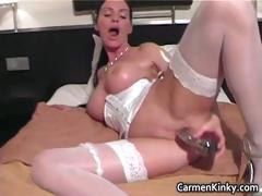 Bigtits Carmen fornicate her..
