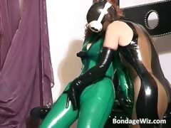wild biotch  in latex and play..