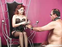 Nylon  whipping a  and getting foot