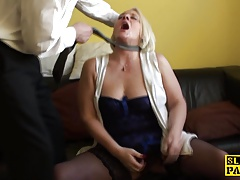 Butt-fucked uk gilf boinked firm..