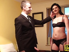 Cumswallowing marionette gets..